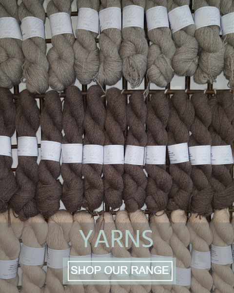 100% pure British Alpaca Yarn (from our own herd)