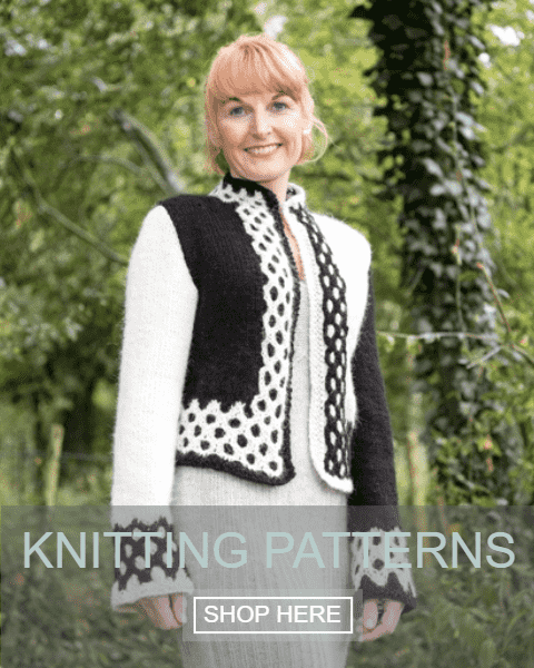 Shadow two tone box jacket, Knitting Pattern